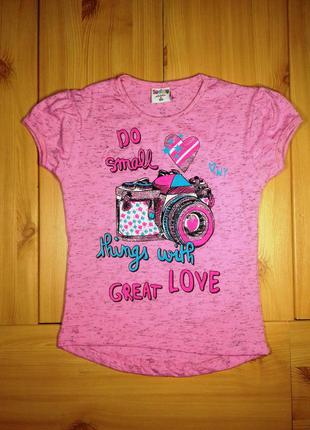 Детская футболка для девочки фотоаппарат beebaby (бибеби)