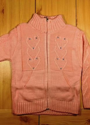 Детская кофта на молнии для девочки рр. 104-128 beebaby (бибеби)