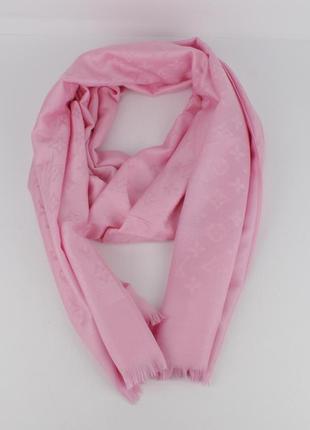 Кашемировый палантин 8881-15 розовый двусторонний