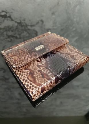 Мега стильный женский кожаный кошелек - портмоне рептилия