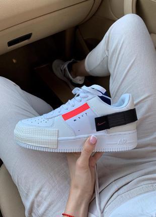 Nike air force 1 type n.354 white женские стильные кроссовки