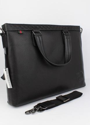 Кожаный портфель, сумка для документов, папка 1104-1, 38*29*7 см