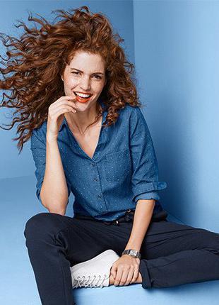 Качественная джинсовая рубашка от Tchibo. Размер 40 евро - наш 46