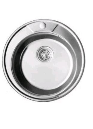 7104 Мийка CRISTAL кругла врізна 490x180 Dekor