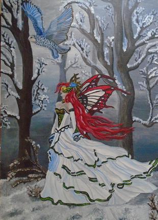 """Картина маслом """"Зимова фея"""""""
