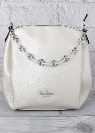 Женская сумочка через плечо velina fabbiano 551650 серебро