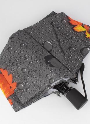 Стильный женский складной зонт полуавтомат silver rain 705-2 с...