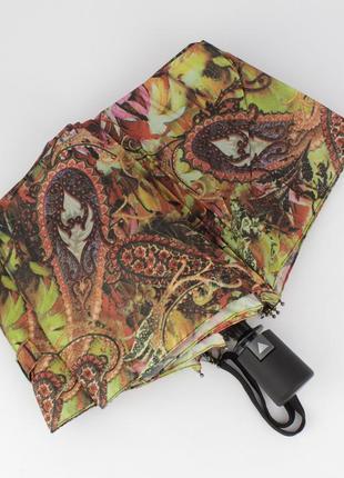 Стильный женский складной зонт полуавтомат silver rain 705-3 р...