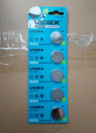 Батарейки Videx CR2016 новые.