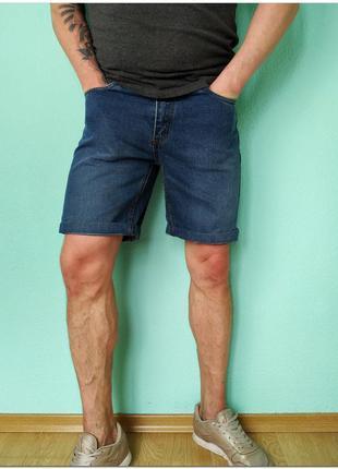 Мужские голубые джинсовые шорты green lodge на молнии