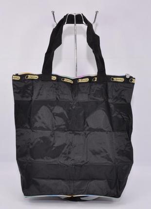 Сумка трансформер lesportsac 9801-1 черная текстильная