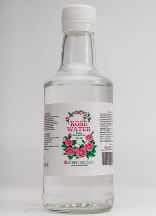 250мл Натуральная розовая вода (в стекле)гидролат(Rosa damascena)