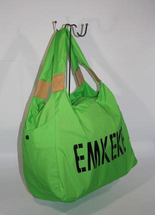 Спортивная, дорожная, пляжная сумка emkeke 915 салатовая, расц...
