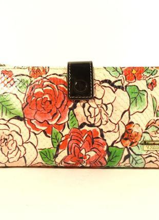 Кошелек женский кожаный velina fabbiano 1051 - розы, расцветки...
