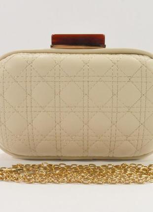 Вечерний мини-клатч стеганый, сумочка на цепочке rose heart 66...