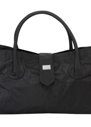 Дорожная сумка, саквояж epol 2360 м средняя черная, 51*27*20 см