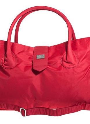 Дорожная сумка, саквояж epol 2360 средняя м красная 51*27*20 см