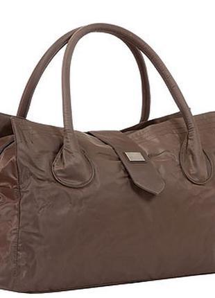 Дорожная сумка - саквояж epol 23601 большая коричневая в наличии