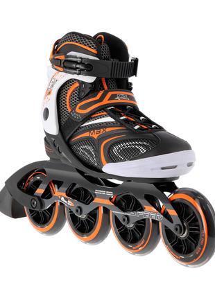 Роликовые коньки Nils Extreme черные с оранжевым Size 39