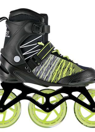 Роликовые коньки Nils Extreme черно-зеленые Size 39