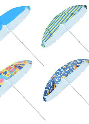 Зонт пляжный/рыбака d1,8/2.0м /2,2мсеребро спицы карбон ативетер