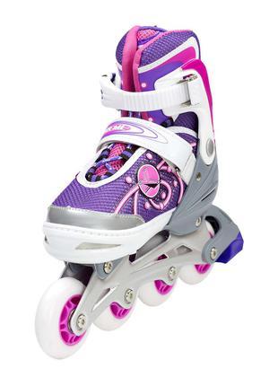 Роликовые коньки Nils Extreme розовые Size 39-42
