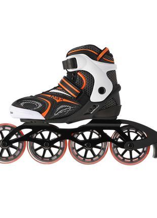 Роликовые коньки Nils Extreme черно-оранжевые Size 42
