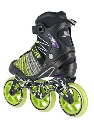 Роликовые коньки Nils Extreme черно-зеленые Size 38