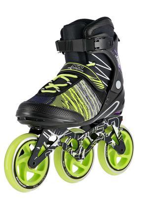 Роликовые коньки Nils Extreme черно-зеленые Size 40