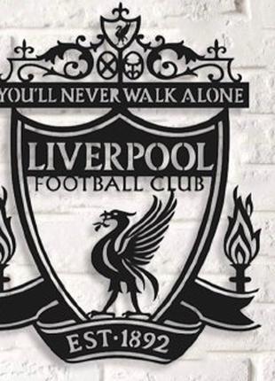 Именное декоративное панно Футбольного клубаLiverpool,эмблемалофт