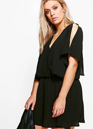Платье  boohoo с открытыми плечами size+