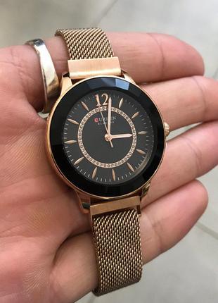 Оригинальные женские наручные часы Curren 9066 Gold-Black