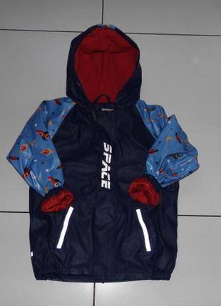 Куртка - дождевик на флисе  - lupilu 122-128/6-8 лет