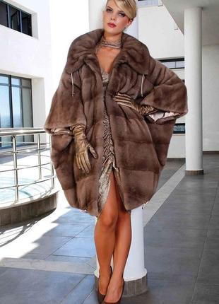 Норковая шуба  fokos furs - трансформер, размер 54-64, греция ...
