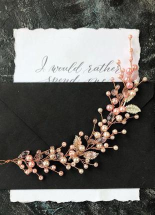 Свадебное украшение для волос, веточка в прическу, украшения в...