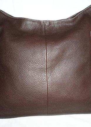 Стильная обьемная сумка из натуральной кожи vera pelle