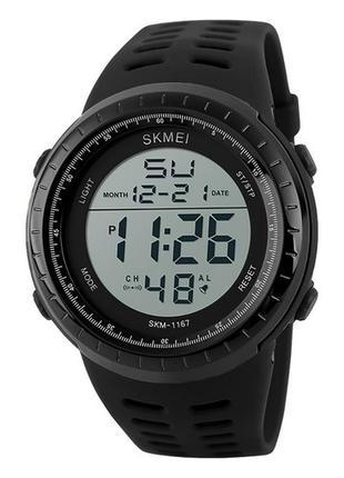 Оригинальные мужские наручные часы Skmei 1167 Black