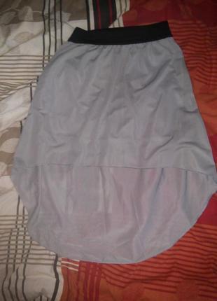 Летняя юбка со шлейфом