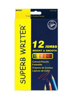 Карандаши цветные Marco Superb Writer Jumbo 12 цв толстые 4400-12