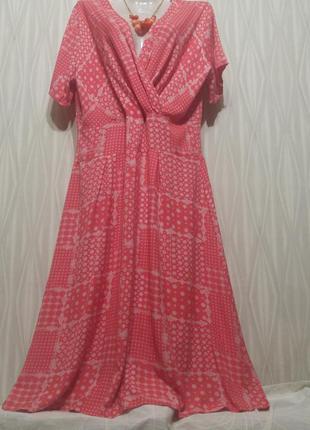 Платье из штапеля, очень комфортное.