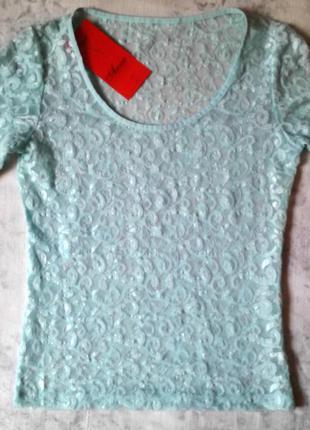 Гипюровая женская блузка