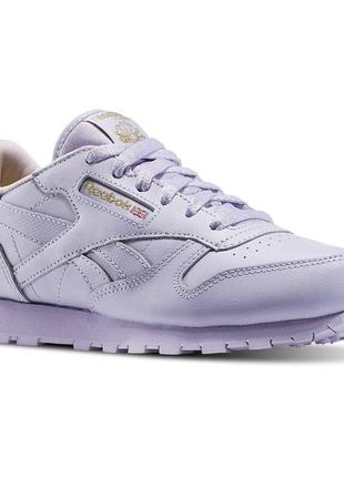 Кроссовки кожаные reebok sneakers classic leather metallic , о...