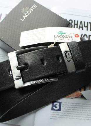 Мужской кожаный ремень lacoste для джинсов