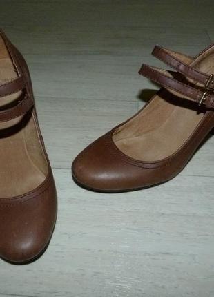 Кожаные туфли topshop 38 размер
