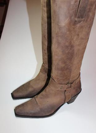 Круті шкіряні чоботи ковбойки казаки