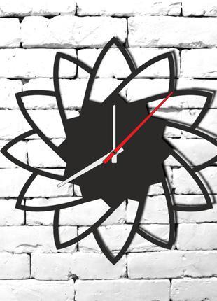 Настенные  часы Цветок из дерева,лофт,панно,декор
