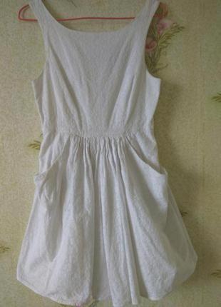 Белое женское платье # котоновое платье # батистовое платье # ...