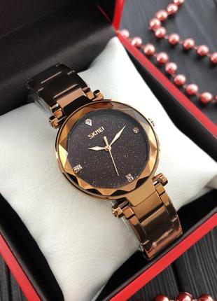 Оригинальные женские наручные часы Skmei 9180 Cuprum