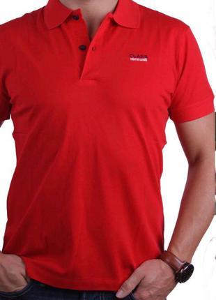 Мужская футболка тениска поло ROBERTO CAVALLI L Оригинал с гологр
