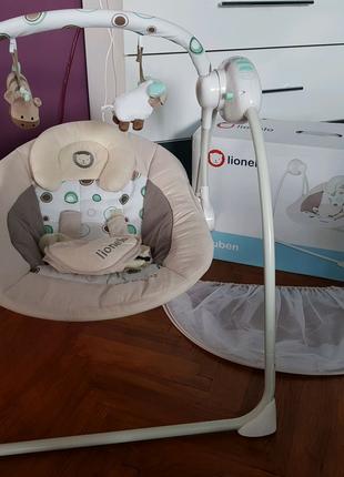 Кресло качалка, шезлонг,укачивающий центр Lionelo